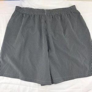 Koret Sz 26 W Black & White Gingham Check Shorts